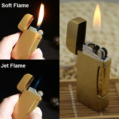 Classic Mens Metal Windproof Lighter Refillable Butane Gas Cigarette Lighters