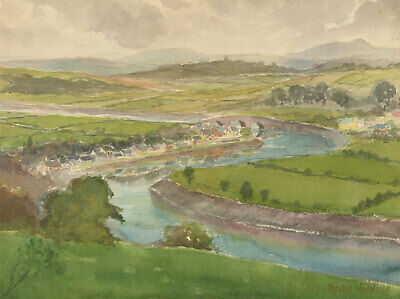 Trevor Hoskins - Signed Mid 20th Century Watercolour, Countryside Village View