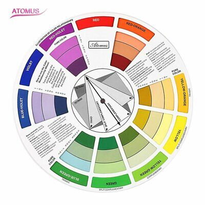 Artists Colour Wheel Mixing Colour Guide Pocket Artist Colour Wheel RY