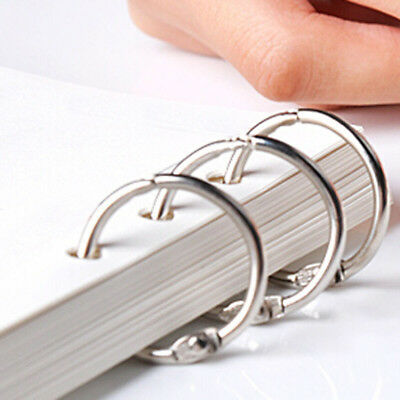 10Pcs Hinged Rings Metal Clips Binder Scrapbooking Split Craft Notebook Calendar