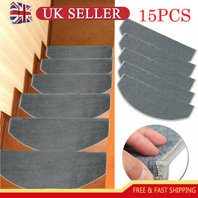 UK Stair Tread Carpet Mats Step Staircase Non Slip Mat Protection Cover Pads Rug