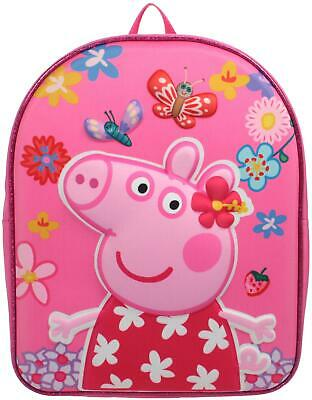 Trade Mark Collections PEPPA PIG EVA BACKPACK - PINK Kids Accessories Bag BN