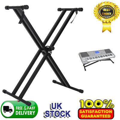 High Quality Double X Frame Folding Adjustable Keyboard Stand Frame Piano&Straps