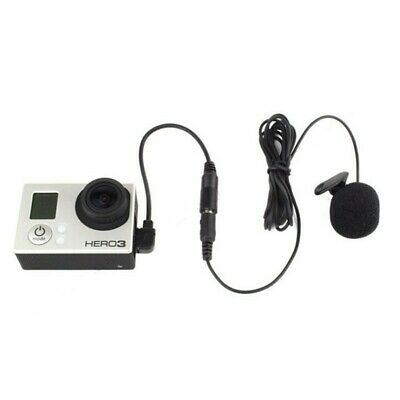 3.5mm Active Clip Microphone Mic Cable Mini USB Adapter Gopro Hero 3 3+ 4 Action