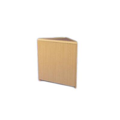 CLEARANCE Triangular Solid Corner Retail Counter Unit in Maple (Q27/CLR)