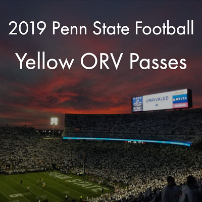 2019 Penn State Nittany Lions Football vs Pittsburgh - Yellow ORV Pass