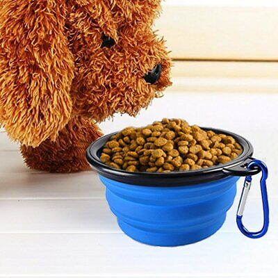 Collapsible Pet Dog Cat Portable Feeding Bowl Travel Silicone Water Dish Feeder