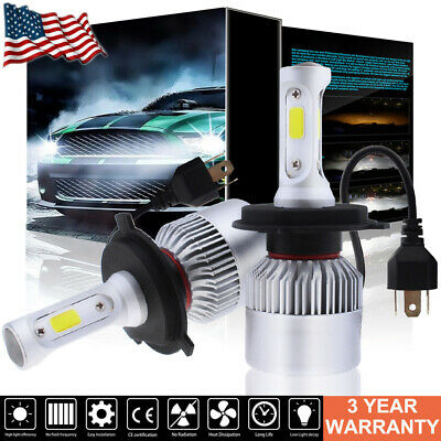 H4 9003 HB2 LED Headlight Bulb Conversion Kit High Low Beam 6000K 210000LM 1400W