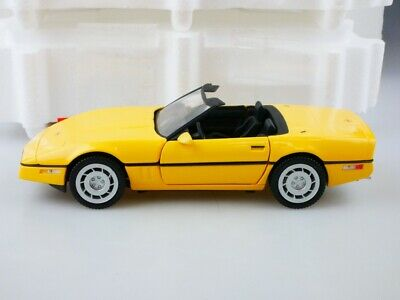 Franklin Mint 1/24 Chevrolet Corvette 1986 Roadster yellow mit Box 513133