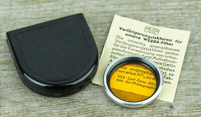 CARL ZEISS JENA Werra Filter ORANGE O1 30,5mm M30,5 Schraubfassung (O4185
