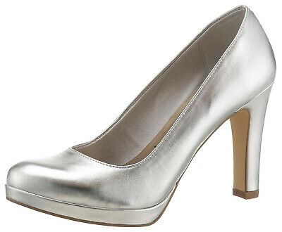 Damen High Heels Navy Tamaris In Metallic Optik High Heel