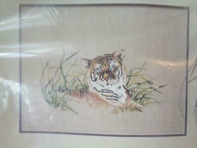 Creative Expressions Crewel Embroidery Kit Tiger Contentment
