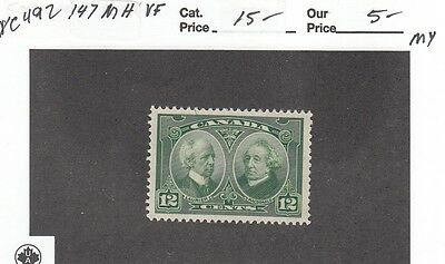 Vc492 Canada #147 Mint Og H Vf - Heavy Discount