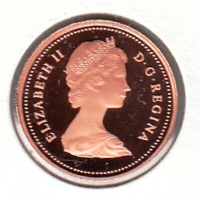 E102 CANADA 1c - 1 CENT COIN 1981 PROOF GRADE Frosted Cameo - CHARLTON $15.00
