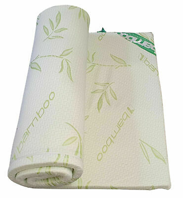 Memory Foam Mattress Topper Enhancer 1 or 2 inch Thick Bamboo Zipped Cover