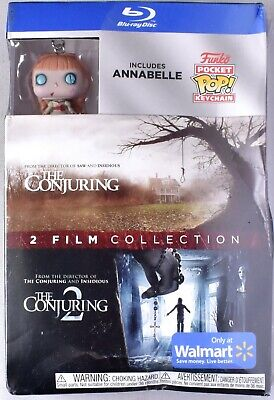 THE CONJURING 1 & 2 Blu-ray + Annabelle Funko Pocket Pop Keychain (See Notes)
