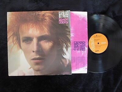 DAVID BOWIE, Space Oddity [orange RCA label] USA LP [Memory Of A Free Festival]