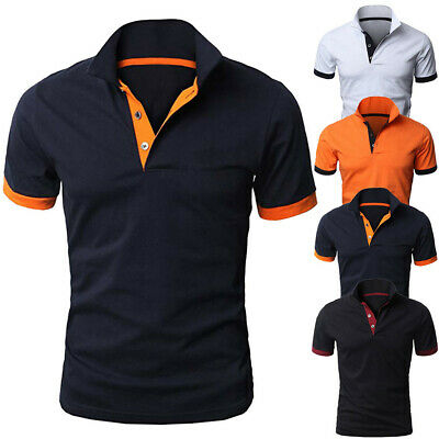 Fashion Mens Slim Fit Stylish Shirt Short Sleeve Casual T-shirt Tee Tops Sport