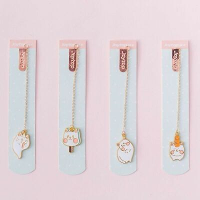 Novelty Popsicle Cat Metal Pendant Bookmark Stationery School Office Supply