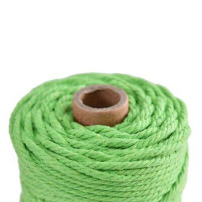 1 Roll 100% Natural Cotton String Twisted Cord Beige Craft Macrame Rope 3mm DIY
