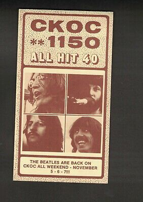 Ckoc 1150 Radio All Hit Top 40 Record Chart The Beatles  November 3, 1976