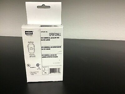 New Hubbell GFBF20ALL GFCI Commercial Grade Receptacles  20A 125V Almond Color