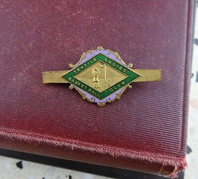 Vintage Textile Ladies Basketball Club Pin Badge