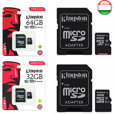 KINGSTON Micro SD 32 GB 64 GB classe 10 MICROSD 80 MB/S Canvas SCHEDA MEMORIA