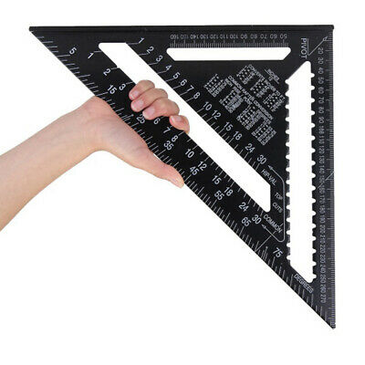 """Aluminium 300Mm 12"""" Triangle Roofing Speed Rafter Square Angle Measure Guide Hot"""