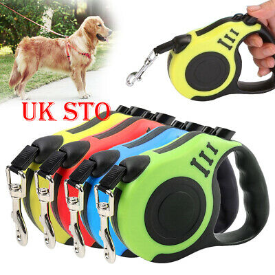 3/5 Meters Long Retractable Dog Pet Lead Tape Extendable Rope Leash Dogs Cat