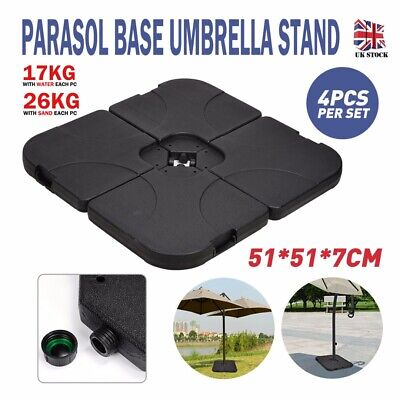 4 Pcs Parasol Base Garden Weights Cantilever Banana Umbrella Stand Base Square