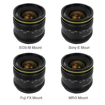 Kamlan 21mm F1.8 Mirrorless Camera Manual Focus Fix Lens for Canon EOS-M/Sony E