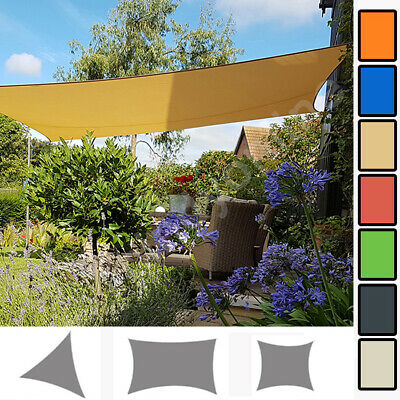 Voile d'ombrage 100% polyester respirant résistant protection UV solaire Jardin