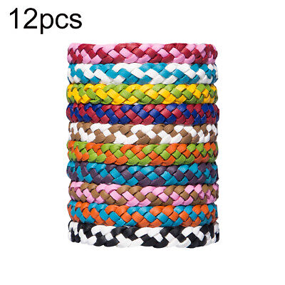 12pcs/Pack Mosquito Repellent Bracelet Band Pest Control Insect Bug Repeller