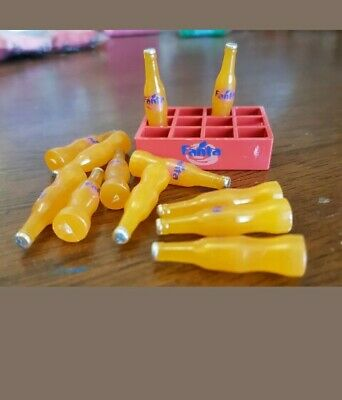 1:12th Miniature Doll House Accessories 1 Crate of Fanta with 12 Bottles
