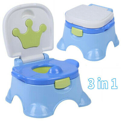 Child Toddler Potty Training Seat Baby Kid Fun Toilet Trainer Chair Step stool