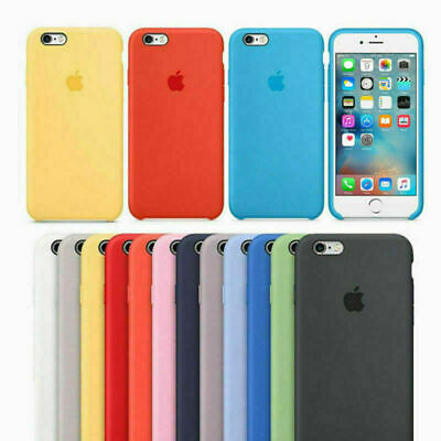 Original Coque Silicone Case Apple iPhone 6 7 8 Plus X XR XS MAX Etui Housses