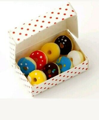 1:12th Miniature Doll House Accessories Mini Box of 6 Iced Donuts