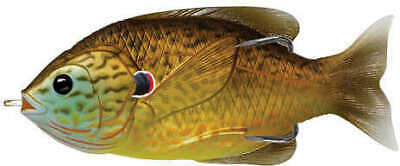 "LiveTarget Lures Sunfish Hollow Body 3"" 3/0 Topwater Copper Pumpkinseed"