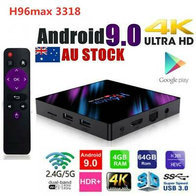 H96 Max Android 9.0 2G+16GB 4G+32/64GB Quad Core 4K Media HDMI WIFI Smart TV BOX