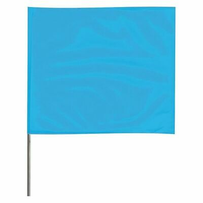 ZORO SELECT 4515BG-200 Marking Flag,Fluor Blue,Vinyl,PK100