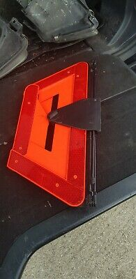 VW in boot lid Hazard Warning Triangle with Holder & Screw