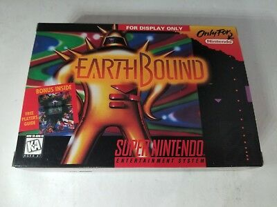 """EARTHBOUND Official Super Nintendo SNES  """" For Display Only """" Box NO GAME"""