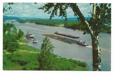 Vintage Mississippi Chrome Postcard The Mighty River A Deep South Card Aerial