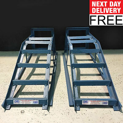 Car Ramps 2.5 Tonne Extra Wide Heavy Duty Pair Car Maintenance Low Ramp