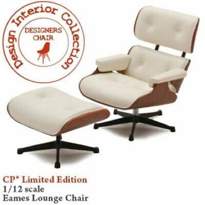No.3 Eames lounge chair and ottoman 1/12 scale DESIGNERS CHAIR-CP01LT miniature