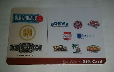 $50 CraftWorks Gift Card - Old Chicago / Rock Bottom / Big River / Sing Sing ++