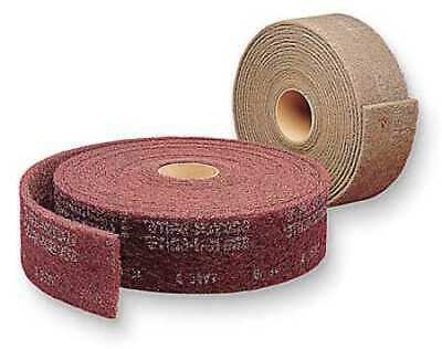 "SCOTCH-BRITE CF-RL Abrasive Roll,3"" W x 30 ft. L,Maroon,PK4"