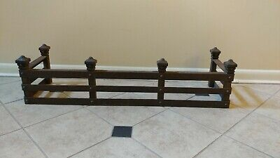 MISSON ARTS & Crafts Cast Iron Fireplace fender Hammered Surface