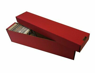 25 800ct 2pc Vertical Cardboard Baseball Trading Card Storage Boxes #802 RED
